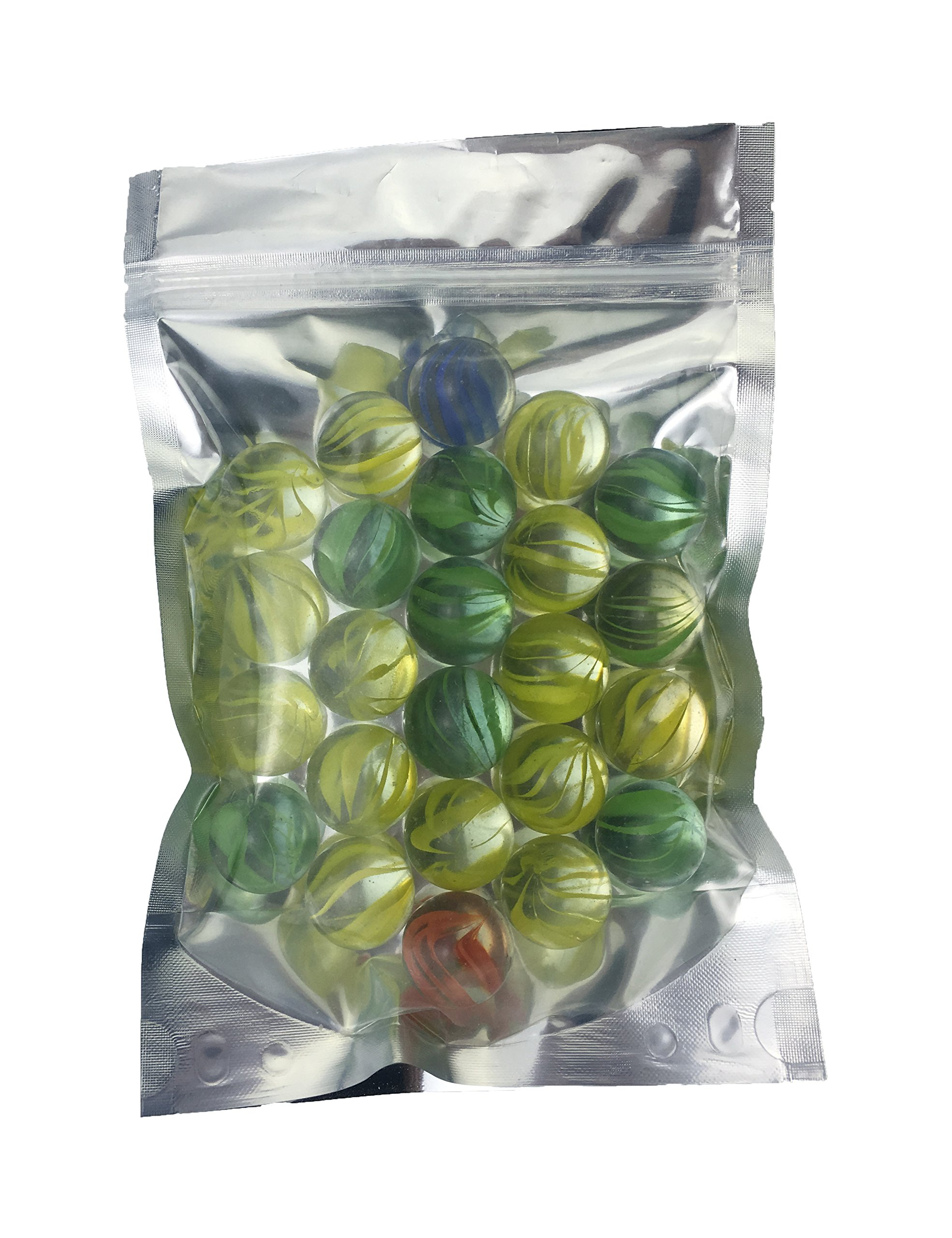 HoneyToys Set of 24 Shooter Marbles 1'' Mega Marbles in Bulk Glass Marbles by HoneyToys (Image #4)
