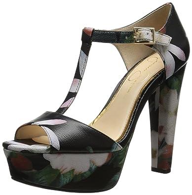 Jessica Simpson Women's Adelinah Platform Pump, Black/Multi, ...