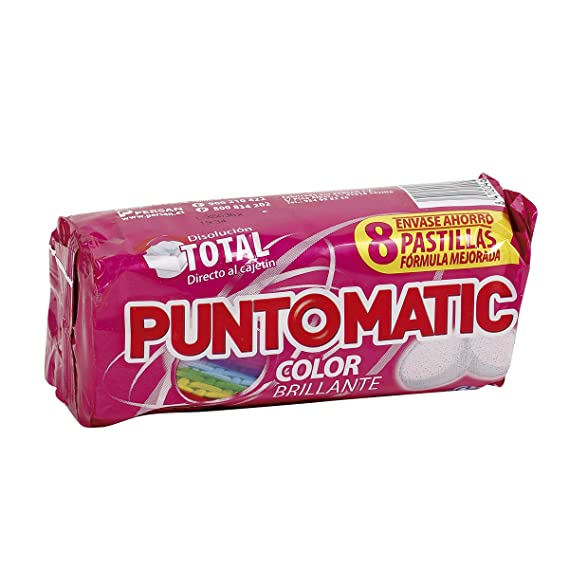 Detergente Puntomatic Color Brillante 4 lavados (8 pastillas ...