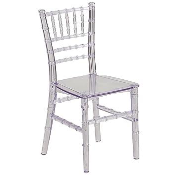 Amazoncom Kids Crystal Transparent Chiavari Chair Chairs