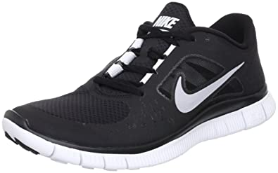 New Nike Free Run + 3 BlackSilver Mens 8.5