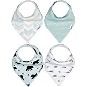 "Baby Bandana Drool Bibs 4 Pack Gift Set For Boys ""Archer Set"" by Copper Pearl"