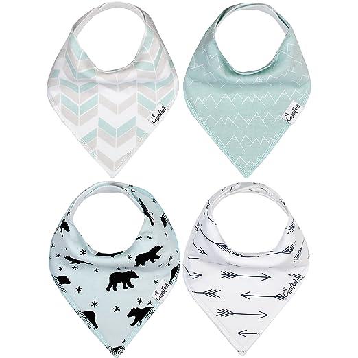 Amazon.com: Bebé bandana Drool baberos de 4 unidades Set de ...