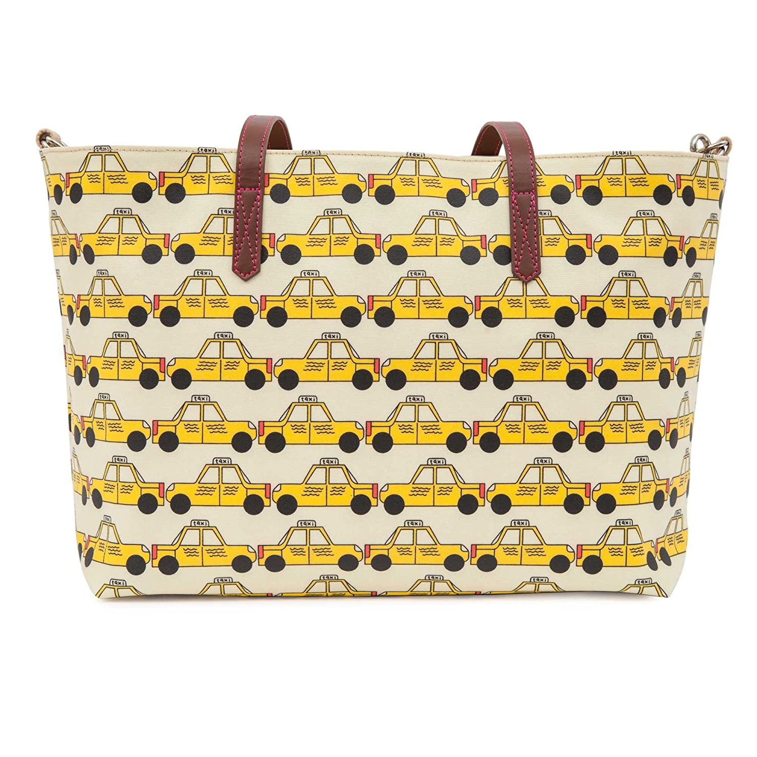 Pink Lining Notting Hill Tote Changing Bag/Yellow Taxis B019BQ2DH6