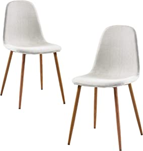 Versanora Minimalista Fabric Set Of 2 Chairs, White