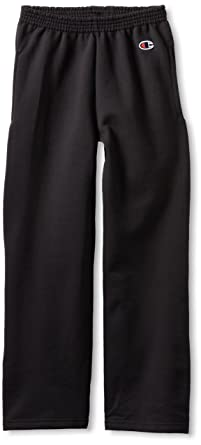 7da7eaff0 Champion Boys Boys' Big Powerblend Eco Fleece Sweatpant, Black, ...