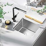 Bar Sink, TORVA 14-Inch Workstation Undermount Kitchen Sink, 16 Gauge Stainless Steel Single Bowl Bar or Prep Sink with…