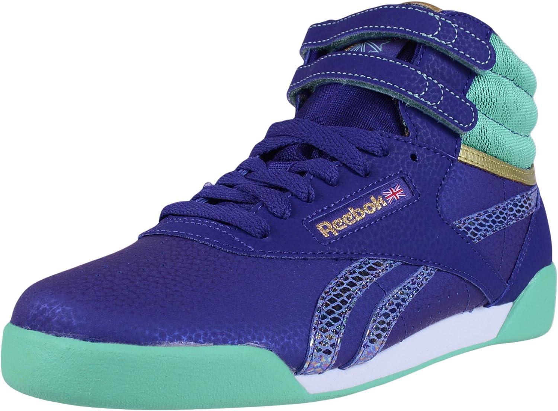 Mandíbula de la muerte más y más marido  Amazon.com | Reebok Classic Girls Freestyle Hi Fashion Sneakers Beacon Teal  White V72763 SZ 5 | Sneakers