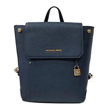 f1d26f832365 Amazon.com: Michael Kors Hayes MD Backpack Leather Navy (35F8GYEB2T ...