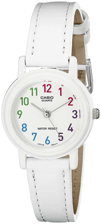 Casio Womens LQ-139L-7BCF Analog Japanese Quartz White Synthetic leather Watch