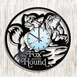 AlvaroDream The Fox and the Hound vinyl record wall clock, The Fox and the Hound kitchen decor