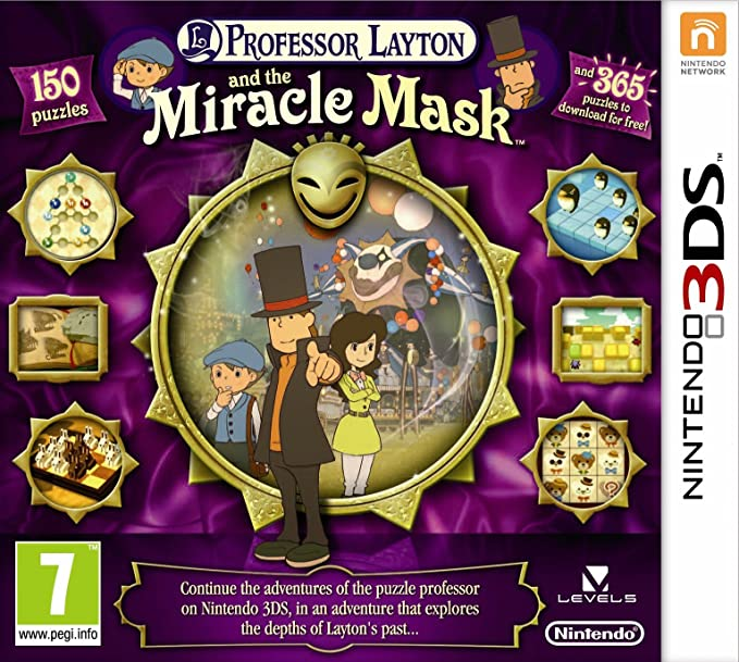 Professor Layton and the Mask of Miracle (Nintendo 3DS) [Importación inglesa]: Amazon.es: Videojuegos