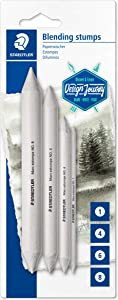 Staedtler Blending Stump Set, for Pastels, Graphite, Charcoal, Artist Blender, Pack of 4 Assorted Sizes, 5426-S BK4