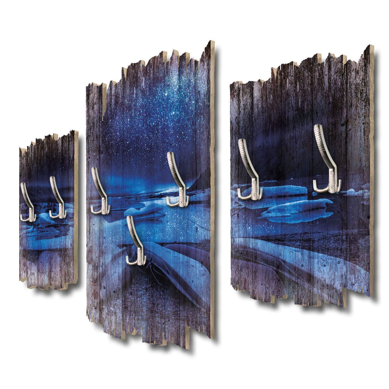 Kreative Feder Gletscher Island Designer Wandgarderobe Flurgarderobe Wandpaneele 95 x 60 cm aus MDF DTGH056