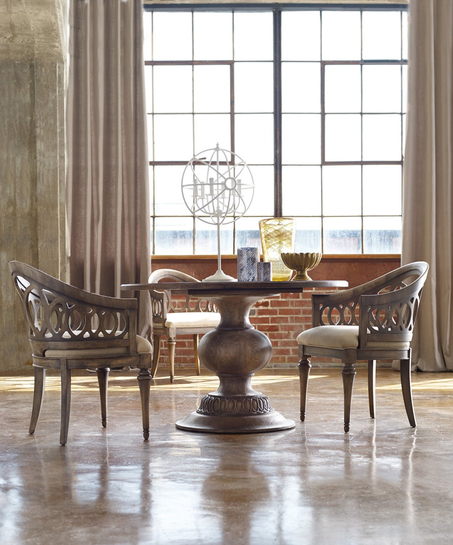 "Amazon Hooker Furniture Melange 48"" Cambria Round Pedestal"