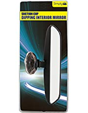 Simply DISM01 Car Interior Suction Cup Dipping Mirror, 210 x 50mm, Increase Visibility When Driving, Easy to Fit & Remove, Replaces or First Time Rear View Mirror, Instructions Included