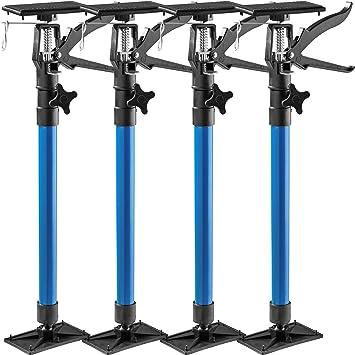 TecTake T/ürspanner Teleskopstange Diverse Modelle 4er Set blau   Nr. 402613 leichte Handhabung stufenlos verstellbar
