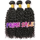 CLAROLAIR brésilien cheveux crepus bouclés cheveux brésiliens tissage bresilien boucle meche bresilienne tissage couleur naturelle (100 +/-5G)/pc (10 12 14 pouces)