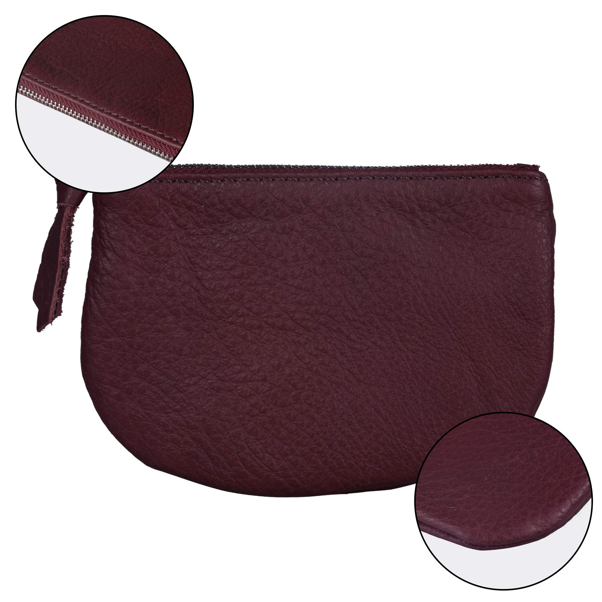 Befen Women Small Cute Leather Wallet, Soft Mini Coin Purse with Card Slots for Women and Teens Girls (Burgundy Coin Purse) by befen (Image #3)