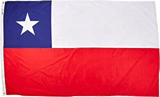 product image for Annin Flagmakers Model 191628 Chile Flag Nylon SolarGuard NYL-Glo, 5x8 ft, 100% Made in USA to Official United Nations Design Specifications
