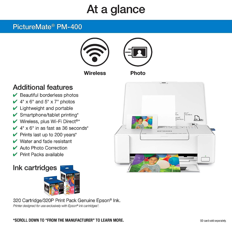 Amazon.com: Epson PictureMate PM-400 - Impresora fotográfica ...