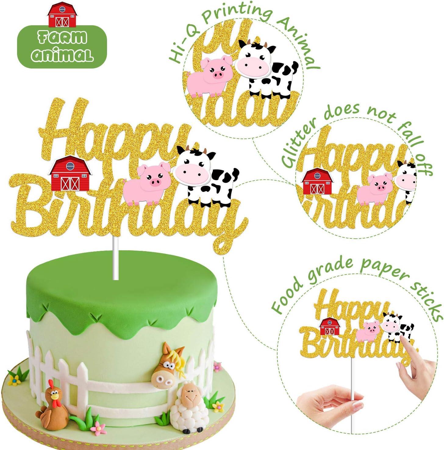 Chèvre Trio MIX 12 comestibles Standup gâteau Toppers Décoration Anniversaire Farm Animal Fun