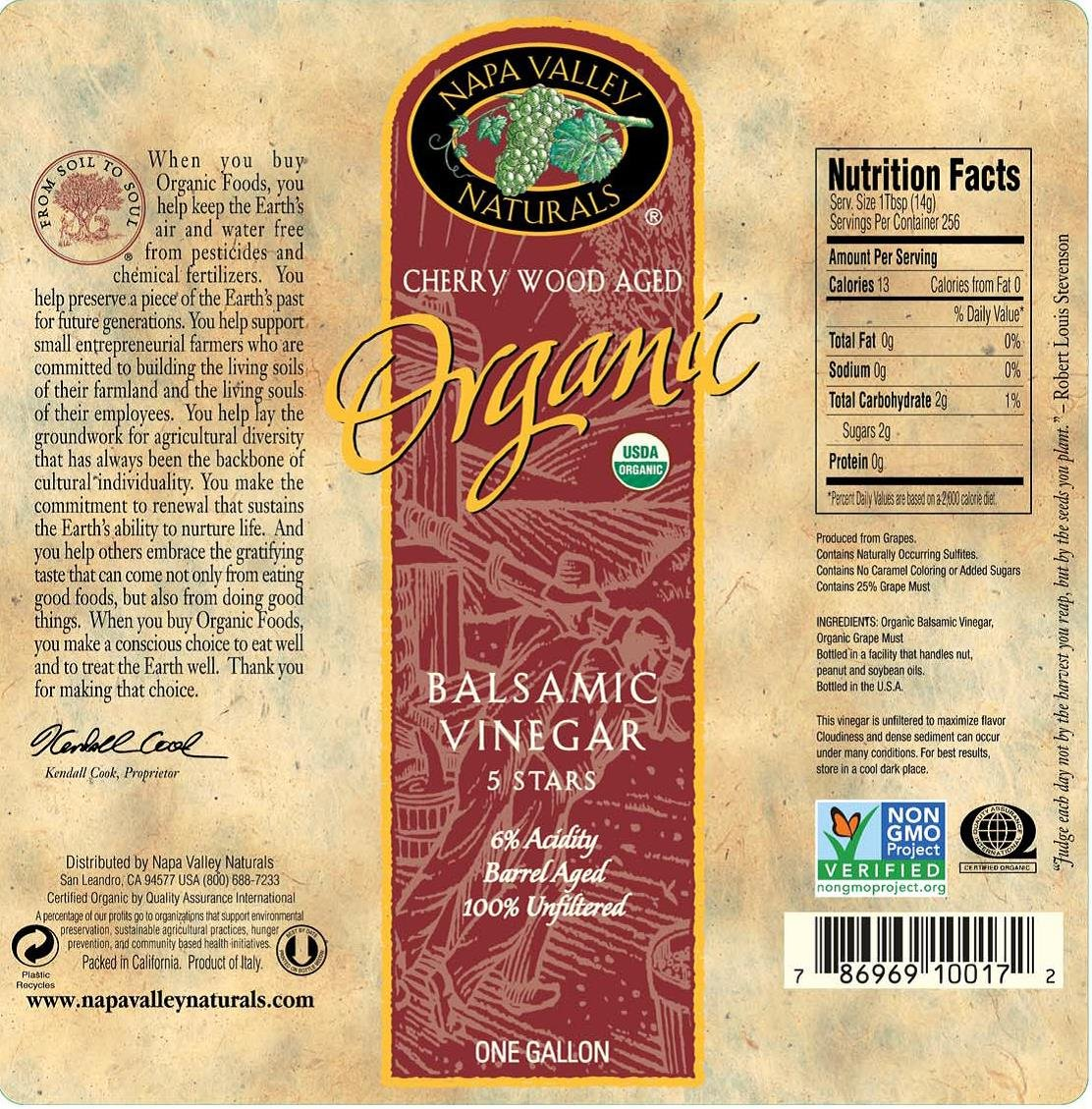 amazon com napa valley naturals organic balsamic vinegar 128