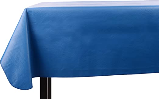 Amazon Com Yourtablecloth Heavy Duty Vinyl Rectangle Or Square Tablecloth 6 Gauge Heavy Duty Tablecloth Flannel Backed Wipeable Tablecloth With Vivid Colors Many Sizes 52 X 52 Royal Blue Kitchen Dining