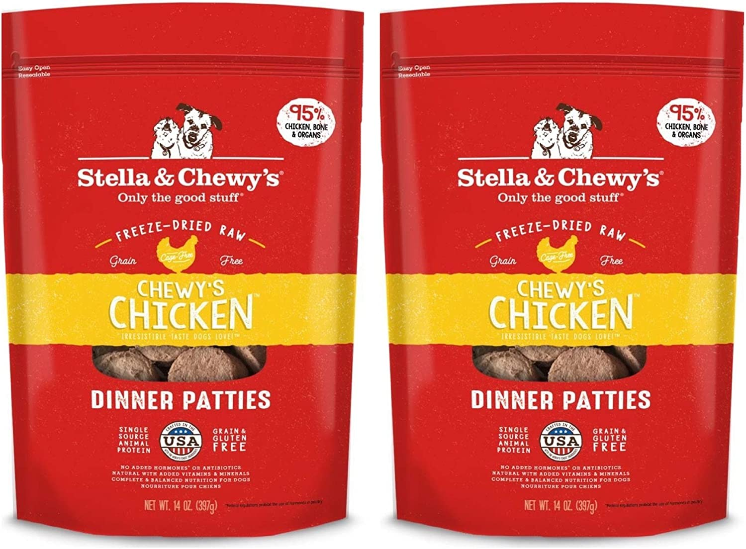 Stella & Chewys Chicken Dinner Patties - 2 Pack