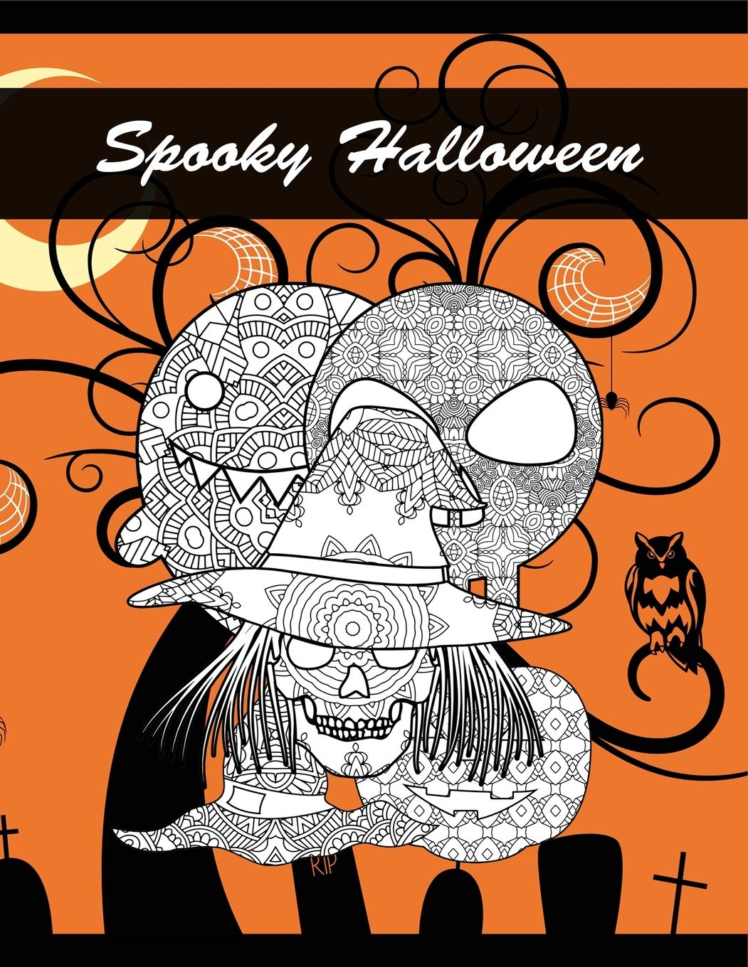 Amazon.com: Spooky Halloween: Coloring Book for Adults Witch ...