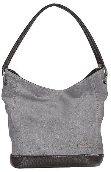 5a4a30fcbb LIATALIA - Sac à main modèle cabas/hobo pour femme en suède italien porté  épaule