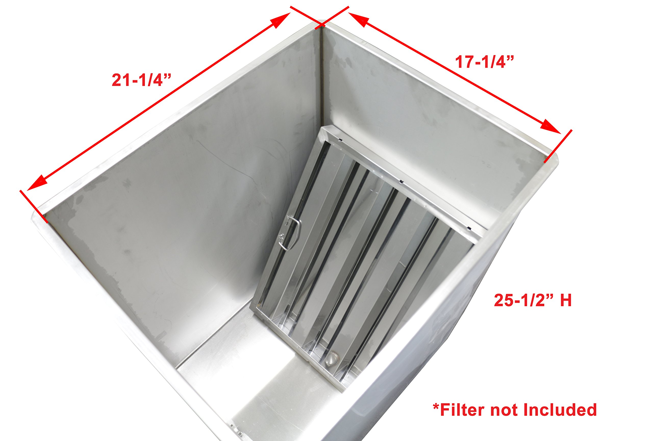 FF-Tank Stainless Steel Restaurant Soak Clean Grease Hood Filter Tank with Lid by EquipmentBlvd