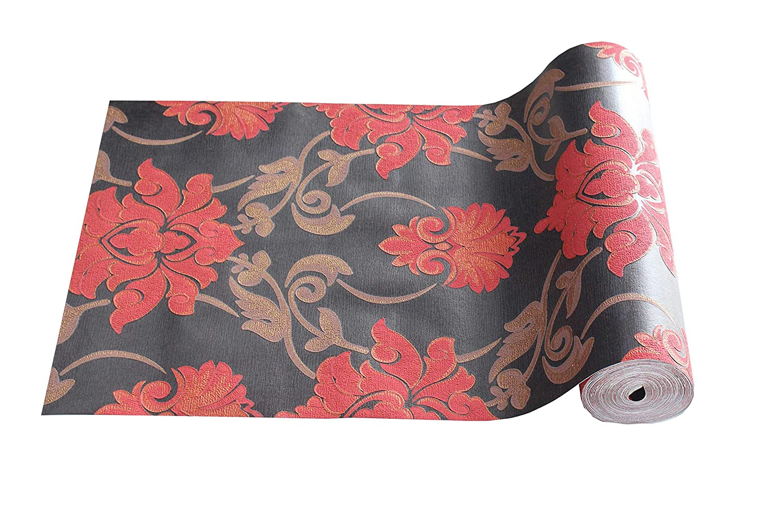 Buy Chipku Flower Pattern Vinyl Foming Wallpaper Rolls For Home