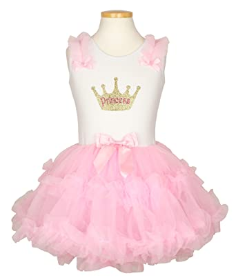 "6a69f5a9 Amazon.com: Popatu Little Girls' Printed ""Princess Crown"" Petti ..."