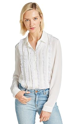 Lilysilk Blusa de Mujer con Encaje Retro 100% Seda Natural 18MM