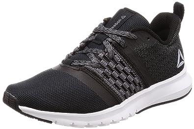 cd9082094ce Reebok Women s s Print Lite Rush Running Shoes Multicolour (Black Ash Grey  White