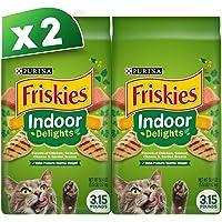 Purina Friskies Indoor Delights Dry Cat Food Bag 1.43kg (2 Bags)