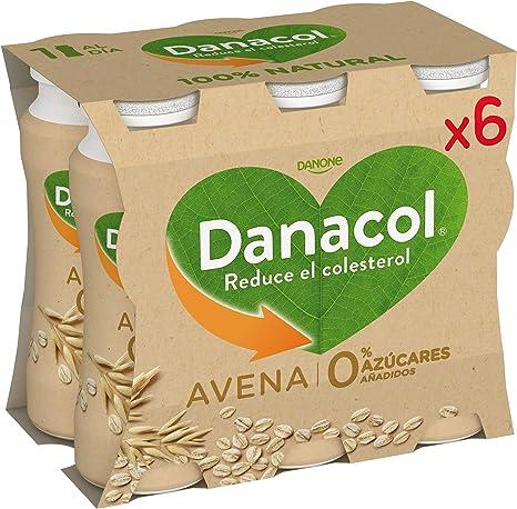 Danone Danacol Bebida Leche Desnatada con Avena - Paquete de 6 x 100 ml - Total: 600 ml 0% azucares: Amazon.es: Alimentación y bebidas
