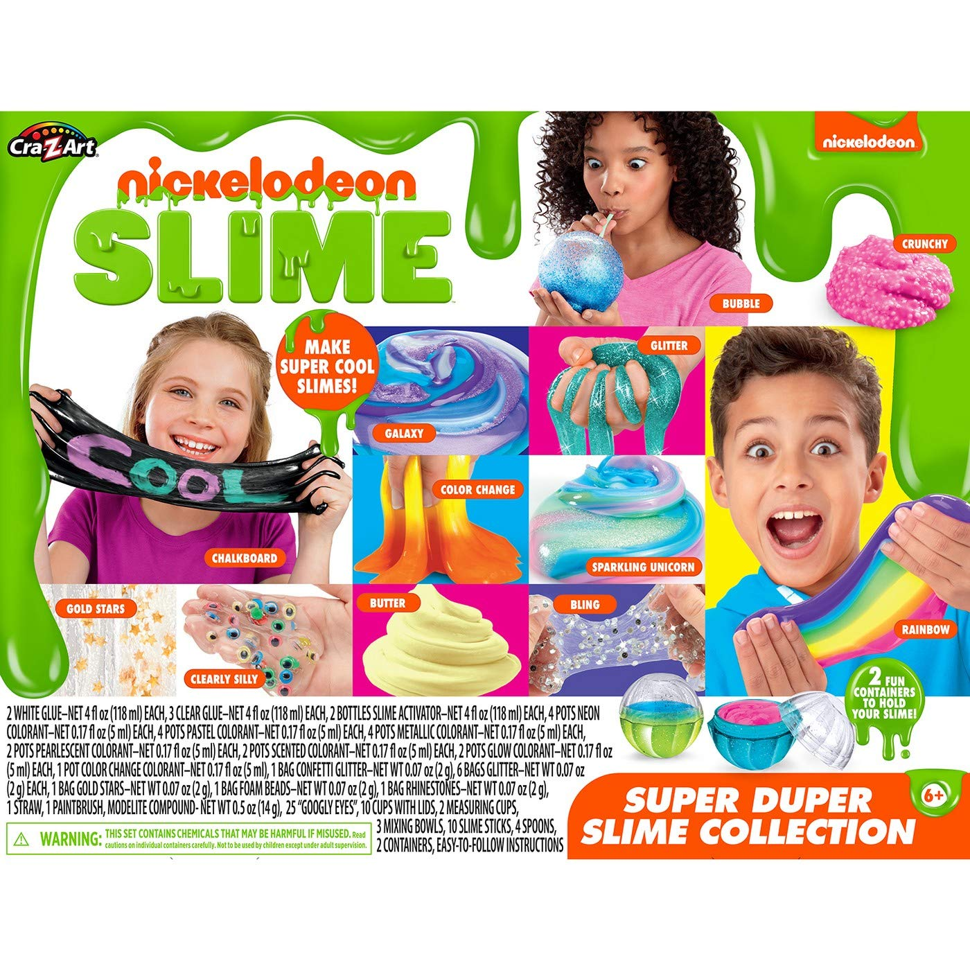 Cra-Z-Art Nickelodeon Super Duper Slime Collection