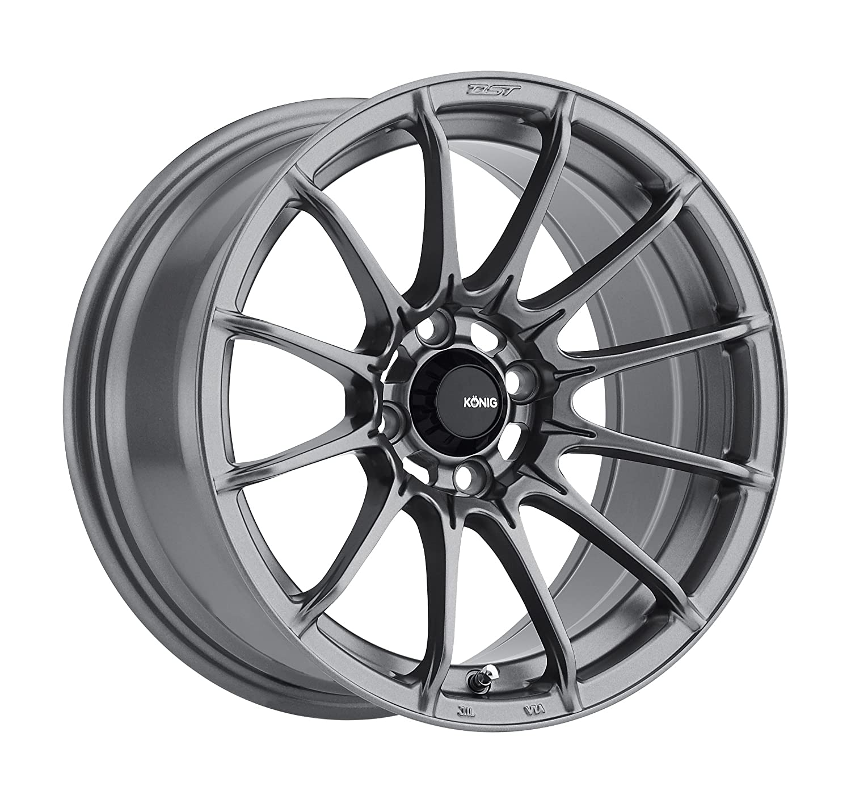 "Amazon Konig DIAL IN Matte Grey Wheel 15x7"" 4x100mm 35mm"