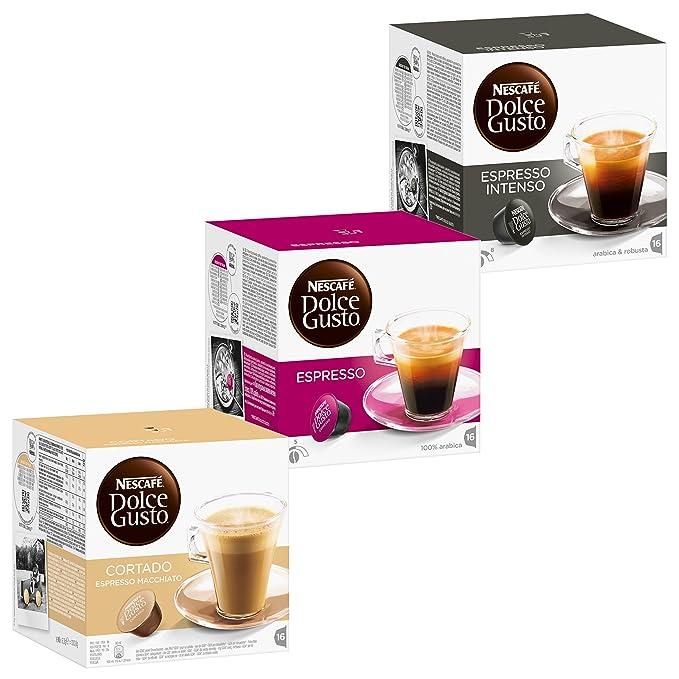 Nescafé Dolce Gusto Set Fortissimo, Café, Cápsulas de Café, 3 Tipos de Espresso