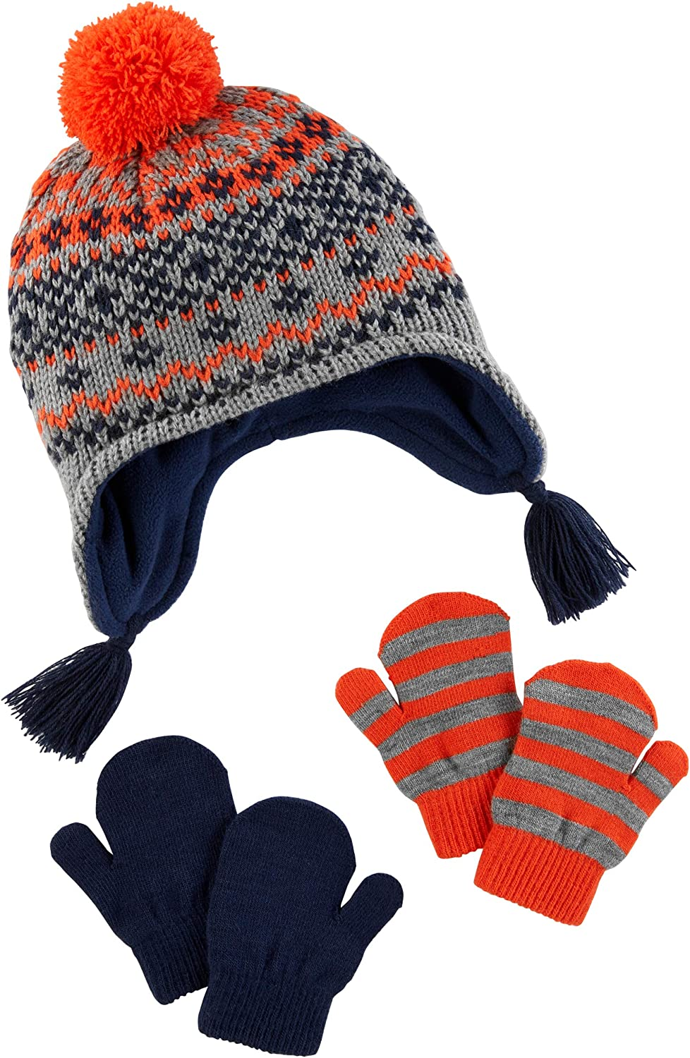 Simple Joys by Carter's Baby and Toddler Boys' Hat and Mitten Set