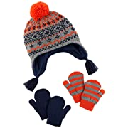 Simple Joys by Carter's Baby Boys' Toddler Hat and Mitten Set, Fairaisle, 2T-5T