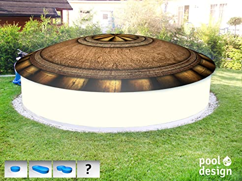 aufblasbare poolabdeckung kokosnuss rund bedruckt motiv coconut druck a 2 5 m