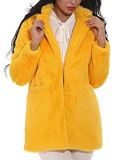 Hishoes Mujer Abrigo de Piel sintética Elegante Abrigos Chaquetas de Pelo  Sintético de Manga… a285328d7b9a