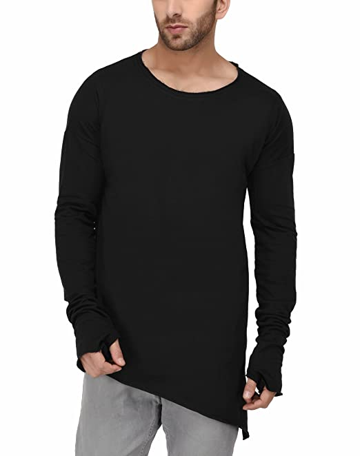 b45d11ff25aa9 DENIMHOLIC Men s Thumb Hole Cuffs Long Sleeve T-Shirt  Amazon.in ...