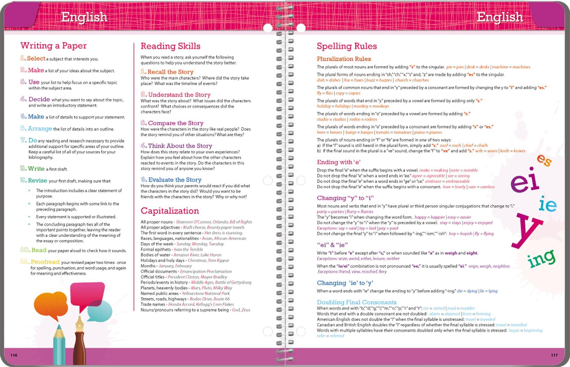 Student Planner 2016 - 2017 School Year Planner Elementary School Content 8.5'' x 11'' by School Datebooks (Image #7)