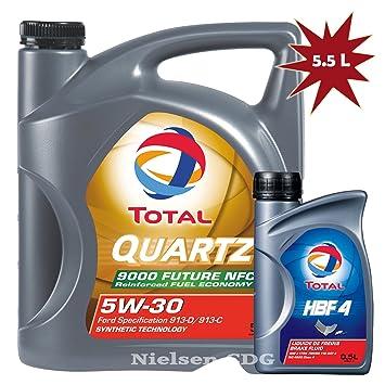 Total Quartz futuro NFC 9000 aceite de motor 5 W30 5 Litros ...