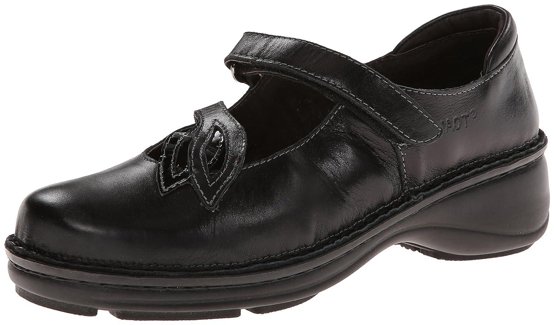 NAOT Women's Primrose Mary Jane Flat B001HNH69C 40 EU/8.5 - 9 M US|Black Madras Leather/Black Crinkle Patent Leather