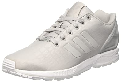 more photos 3d19f 3fc53 adidas ZX Flux, Baskets Basses Femme, Gris Grey Two Footwear White, 36